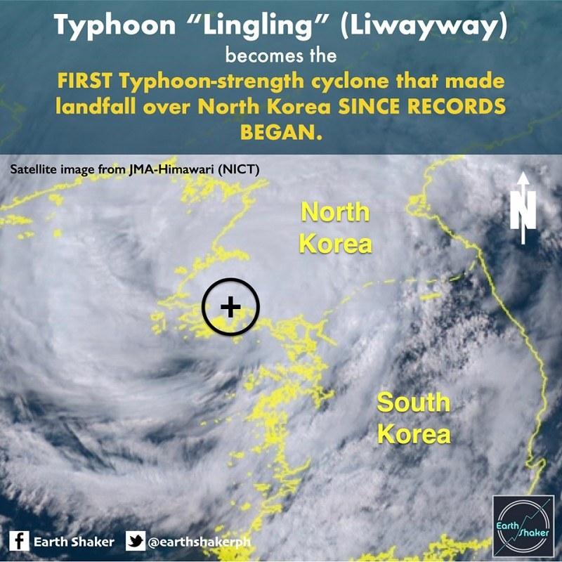 玲玲創紀錄 日本氣象廳:北韓史上第一個颱風